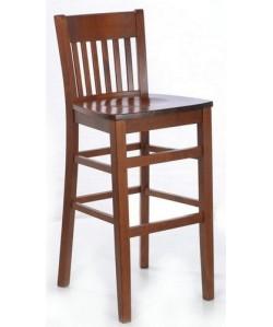 Taburete ZAGRA, madera de haya, asiento madera, barnizado.
