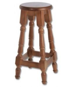 Taburete LONY, madera de pino, asiento madera, barnizado.
