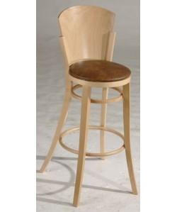 Taburete PONIA, madera de haya, barnizado, tapizado a elegir