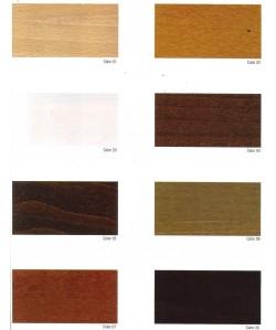 Carta de colores de madera barnizada para marca PR-1