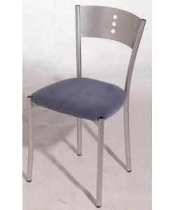 Silla de hostelería BOLIA, color a elegir, asiento tapizado
