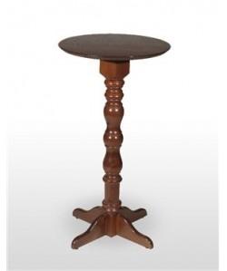 Mesa alta VILLA, madera de haya torneada, tapa 60 cms diámetro.