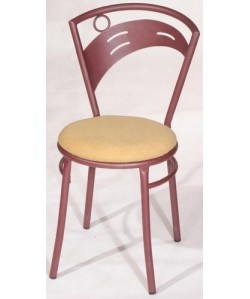 Silla de hostelería Rf. 02CIBT, color a elegir, asiento tapizado.