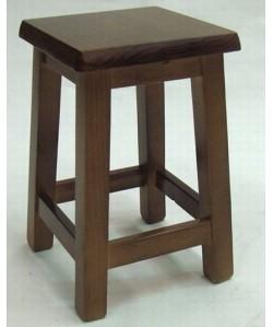 Taburete bajo LEDO, madera de pino, asiento madera, barnizado.