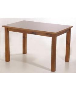 Mesa de hostelería CASTALLA, armazón pino macizo, tapa madera 120x80 cms. barnizada