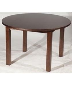Mesa de hostelería CASTALLA, armazón pino macizo, tapa madera 120 cms. barnizada
