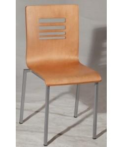 Silla multiusos AMERIA, epoxi aluminio, carcasa madera barnizada color a elegir