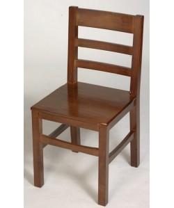 Silla de madera de pino BODE, asiento madera barnizada.