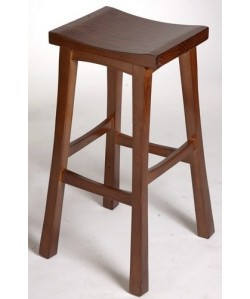 Taburete BODE, madera de pino, asiento madera, barnizado.