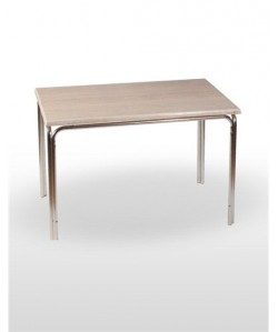Mesa de aluminio PULCO, tapa werzalit estándar 120x70 cms.