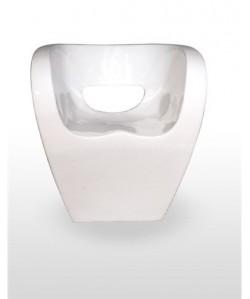 Sillón de diseño COLDO polipropileno blanco.