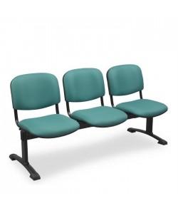Bancada Aries, 3 plazas, asiento y respaldo tapizado.
