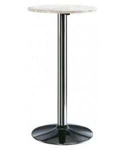 Mesa 0656985 alta, acero inoxidable y tapa de 60 cms.