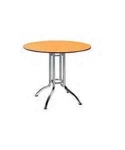 Mesa 0657105, cromada, tablero compacto de 80 cm