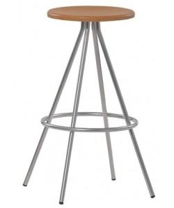 Taburete 0655735, acero cromado, asiento compacto..