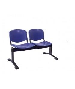 Bancada Mod. NIZA, 2 plazas, asiento y respaldo plástico. 3 colores a elegir