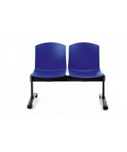Bancada PULL, 2 asientos, carcasa polipropileno ( 9 colores a elegir)