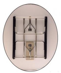 Mesa plegable, 180 X 135 cms, ovalada, blanco.