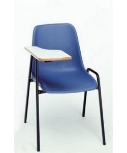 Silla 262 con pala de escritura, asiento monoblock polipropileno.