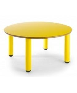 Mesa redonda 406, de 90 cms. de diametro, altura 46 o 52 cms.