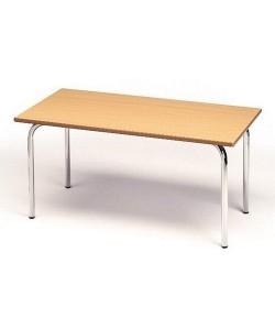 Mesa rectangular 207, de 120X60 cms, altura 46, 54 o 60 cms.