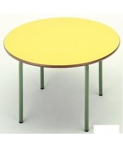 Mesa redonda 206, de 120 cms. de diametro, 3 alturas.
