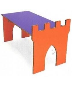 Mesa CASTILLO, estructura con forma 120 x 60 cm alt.46
