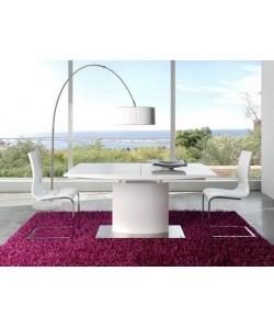 Mesa de comedor GANTE, extensible, madera lacada blanca