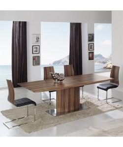 Mesa de comedor AMBERES, extensible, madera nogal