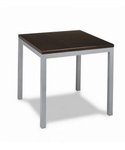 Mesa de hostelería Rf. 3154135, aluminio, tapa madera.