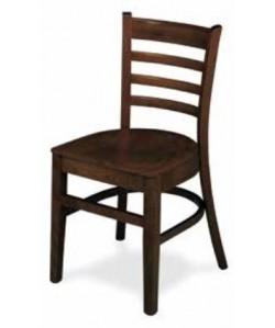 Silla de madera de haya Rf. 315165, asiento madera barnizada.