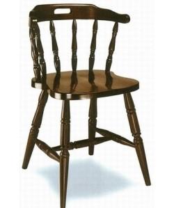 Silla de madera de haya Rf. 31515, asiento madera barnizada.