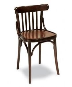 Silla de madera de haya Rf. 31535, asiento madera barnizada.