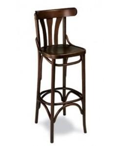 Taburete Rf. 315245, madera de haya, asiento madera, barnizado.