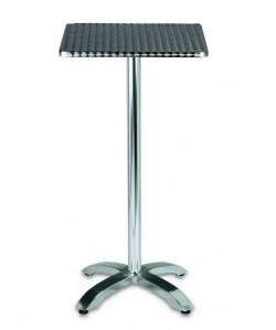 Mesa alta Rf. 3153945, aluminio, tapa a elegir.