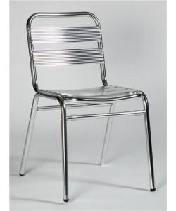 Silla de aluminio, Rf. 3151905, 5 costillas. Apilable