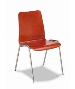 Silla multiusos Rf. 3151405, asiento y respaldo madera barnizada.