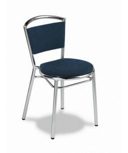 Silla de hostelería Rf. 3151565, aluminio, asiento y respaldo  tapizado.
