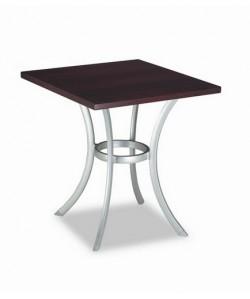Mesa de hostelería Rf. 3154365, base aluminio color plata, tapa a elegir redonda.