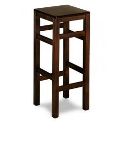 Taburete Rf. 315205, madera de haya, asiento madera, barnizado.