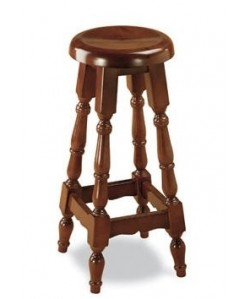 Taburete Rf. 315215, madera de haya, asiento madera, barnizado.