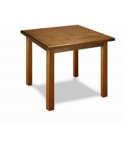 Mesa de madera de pino Rf. 315175, tapa madera barnizada 80x80 cms.