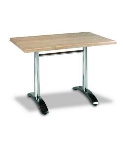 Mesa de aluminio, Rf. 3154025, tapa werzalit 110 x 70 cms.