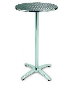 Mesa alta Rf. 3153935, aluminio,  tapa inoxidable de  60 cms