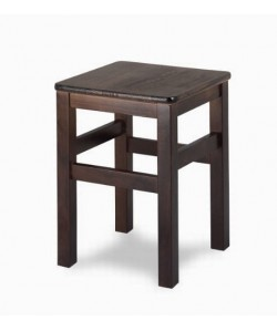 Taburete Rf. 315195, bajo, madera de haya, asiento madera, barnizado.
