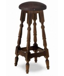 Taburete Rf. 315215, madera de haya, asiento tapizado, barnizado.