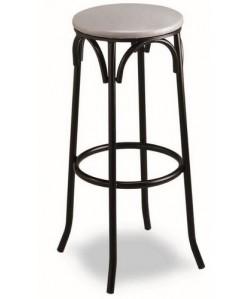 Taburete de hostelería, Rf. 3155045, armazón de tubo de acero, asiento tapizado