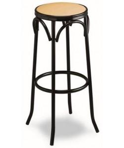 Taburete de hostelería, Rf. 3155055, armazón de tubo de acero, asiento tapizado