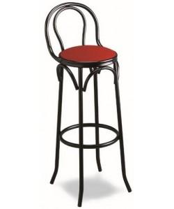 Taburete de hostelería, Rf. 315505R5, armazón de tubo de acero, asiento tapizado