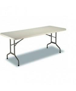 Mesa plegable Rf. 3153115, armazón acerado, tapa de polietileno, 153X72 cms